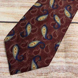 Vintage Eddie Bauer Patterned Silk Men's Necktie